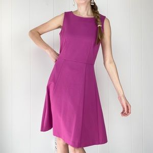 NWT 212 Collection Magenta Fit & Flare Dress XS